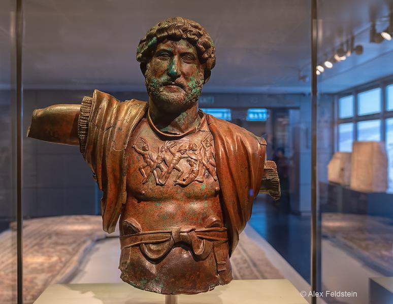 Hadrian bronze (130CE)<br /> The Israel Museum<br /> Jerusalem