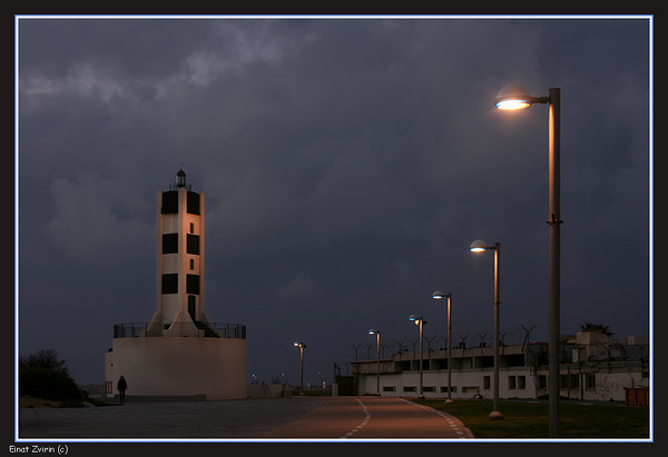 The Tel Aviv lighthouse at the renovated port