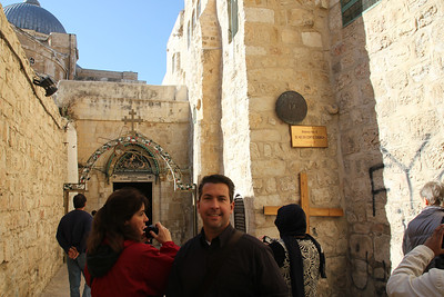 Stations of the Cross - Number 9 on the Via Dolorosa where Jesus fell the third time.