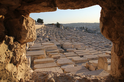 Mount of Olives - The whole hillside is full of ancient tombs.