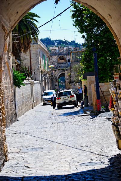 A porta de Herodes ruiu durante a conquista dos Cruzados em 1099