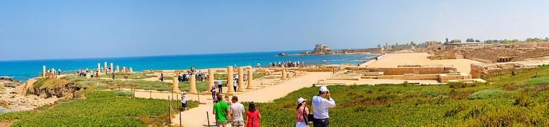 A cidade antiga<br /> Vista da zona arqueologica e do porto.<br /> Caesarea National Park - Haifa - Israel