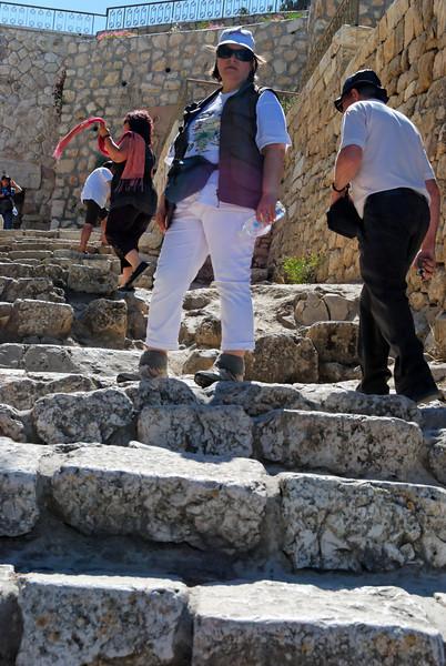Antigos degraus que conduzem do Monte Sião ao Getsãmani