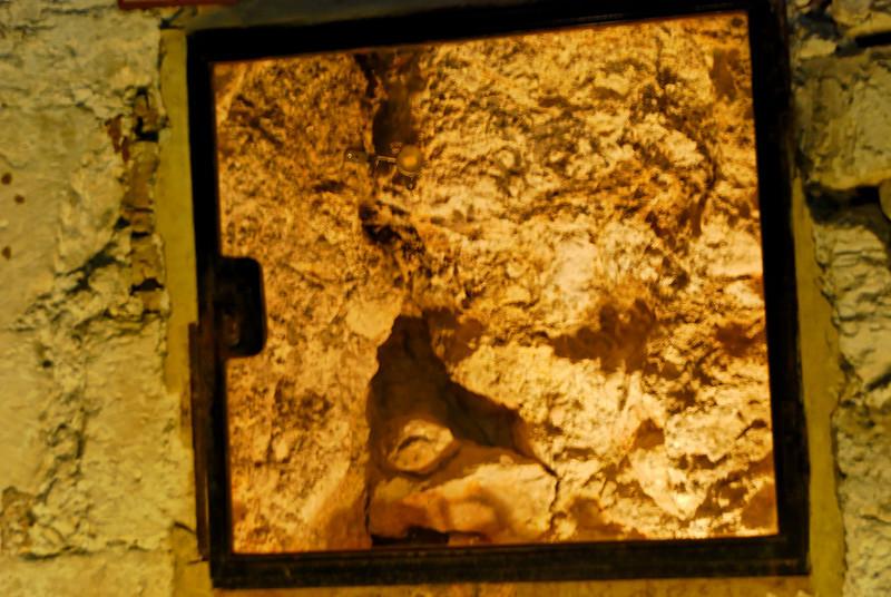 Gólgota vista a partir da Capela de Adão