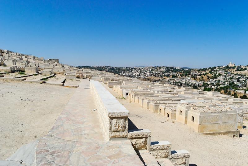Panoramica de Jerusalém vista do Monte das Oliveiras