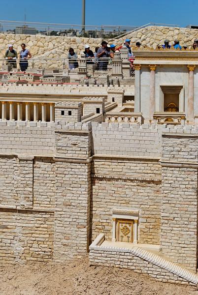 maquete da cidade de Jerusalém dos tempos de Jesus<br /> Santuário do Livro e Museu de Israel