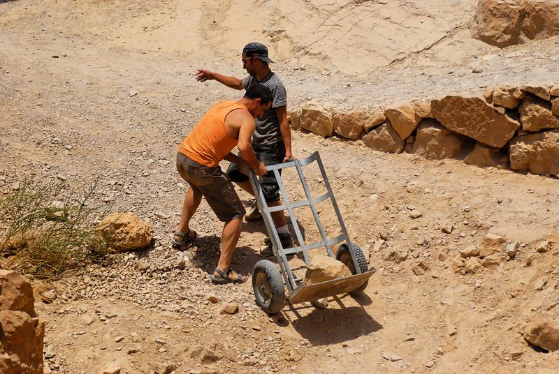 trabalhadores das Ruínas da antiga cidadela