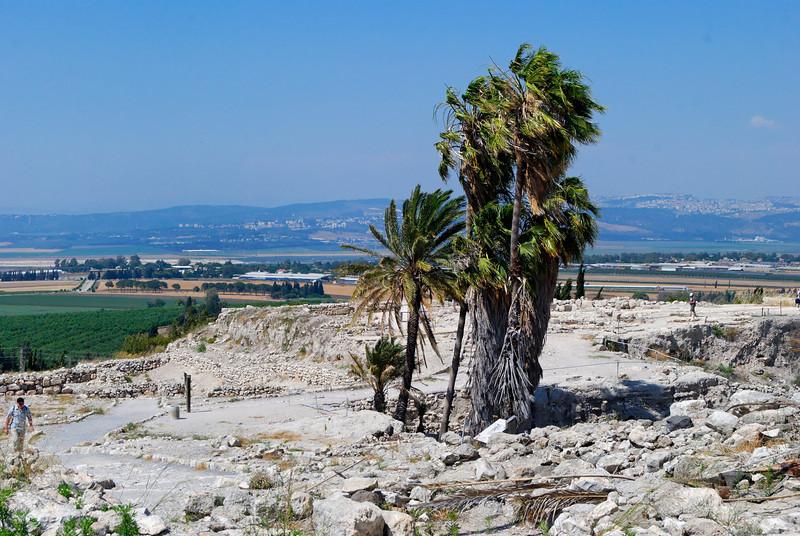 Ruínas no topo da colina do Megiddo