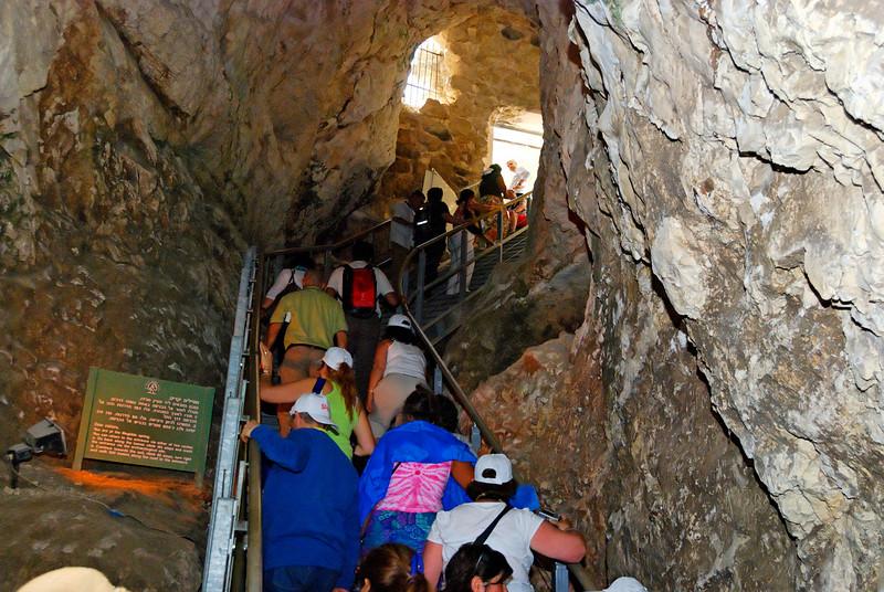 Pormenor do túnel feito para trazer água potável para a fortaleza