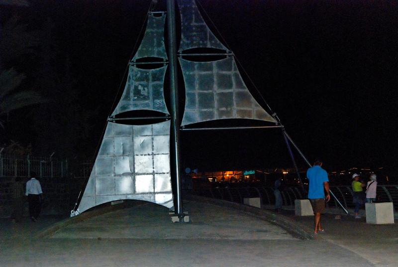 à noite junto ao mar da galileia
