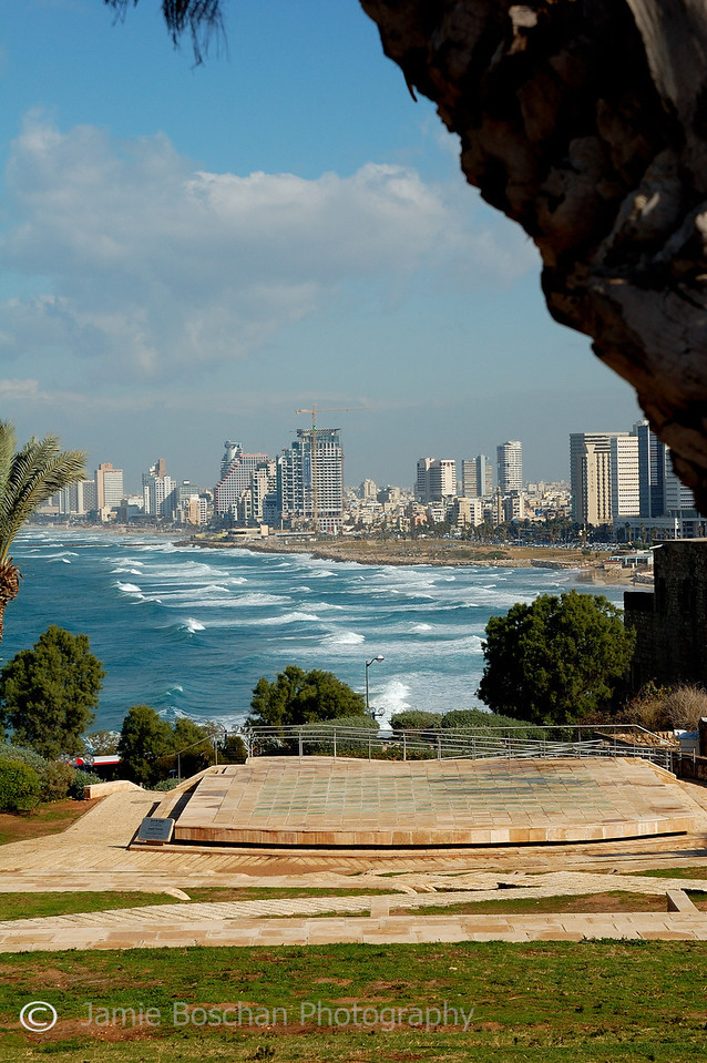 View of Tel Aviv from top of Jaffa Wall