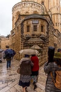 A caminho do Cenáculo e o túmulo de David Abadia da Dormição