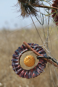 Recycled art in the Golan Heights.