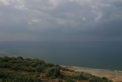 A hazy day at the Sea of Galilee (the Kinneret).