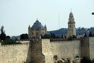 Outer wall of Jerusalem's Old City near the Jaffa Gate.