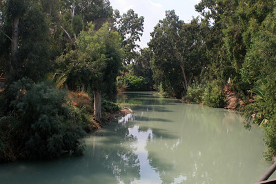 Supposedly the spot on the 'Banks of the River Jordan' where Jesus was baptized.