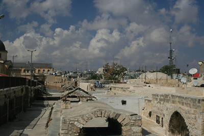 From the rooftops of the Old City. Old meets new- Can ou spot all the satellite dishes? Next three pics.
