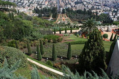 The Baha'i Gardens in Haifa. World headquarters of ths apparently very wealthy faith.