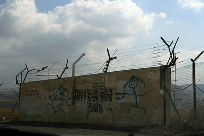 Israeli graffiti on the border with Jordan.
