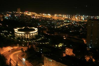 Haifa at night.