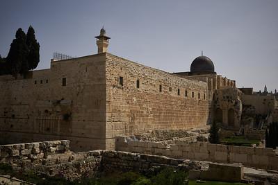 The silver dome of the Al-Aqsa mosque.