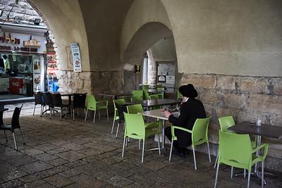 Morning snack in Jerusalem.