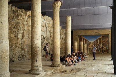 One of the many tourist groups in Jerusalem.