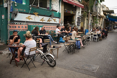One of the many Tel Aviv old town cafe's.