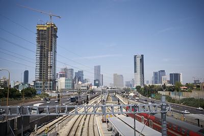 View from the Tel Aviv HaHagana train station.