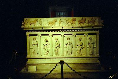 Weeping women sarcophagus