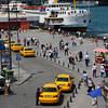 Eminönü, the ferry terminal seen from top of the the pedestrian bridge