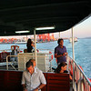 On one of the many ferryboats that run a service over the Bosporus.<br /> Just order a tea and relax to the max...
