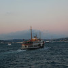 Ferryboat just left Eminönü, in the background you see the first of two bridges over the Bosporus...