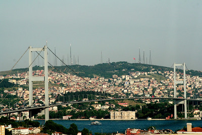 The Bosphorus Bridge which connects Asia and Europe
