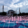Fountain in the center of Sultanahmet Square.