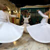 Whirling Dervish show at the Writer's Union. These are Sufis, the mystical branch of Islam.