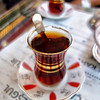 A stranger, whom we stopped to ask for directions to the Grand Bazaar, took us to his favorite haunt for tea, after which he led us to the bazaar. He spoke no English, I no Turkish, so we communicated haltingly in French! This photograph is Apple tea, very popular here.