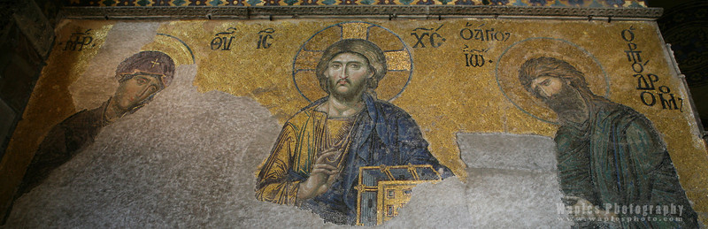 Figure of Christ, Deësis mosaic
