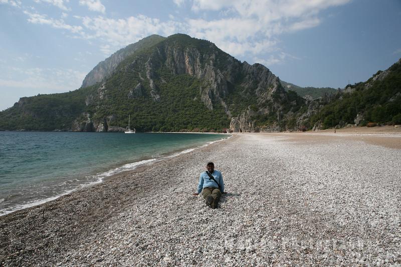 On the beach near Olympos