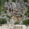 Lycian Tombs cut into cliffs