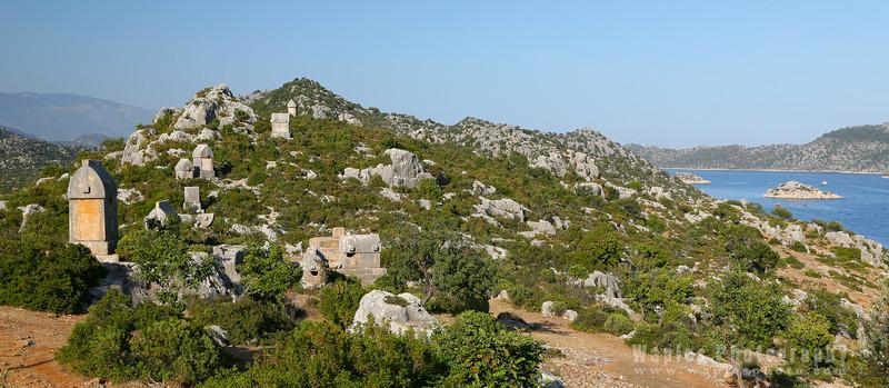 Lycian Tombs dot the landscape