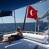 Relaxing, approaching Antalya