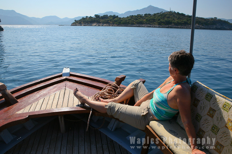 Liz enjoying the River Dalyan