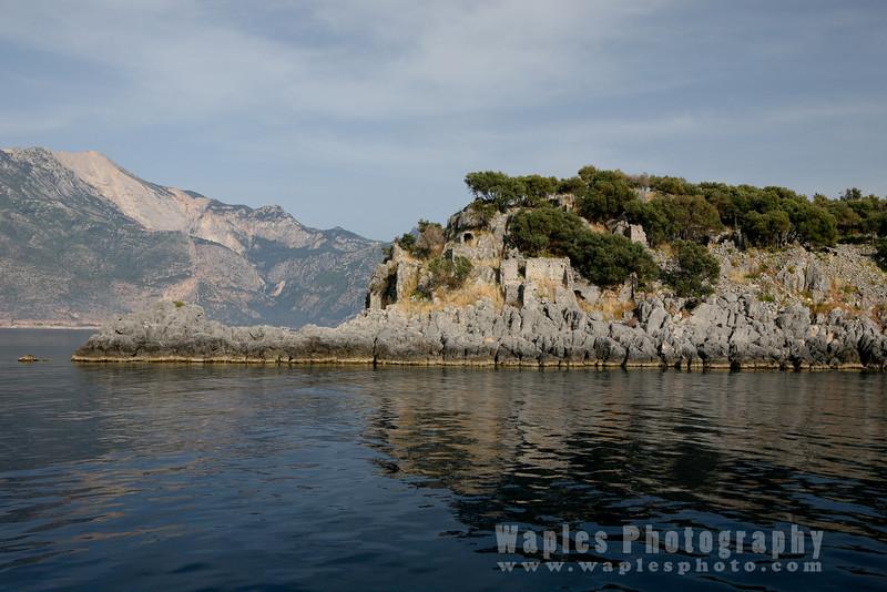 Approaching St. Nicholas Island, Gemiler