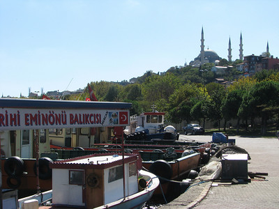 We took a taxi across the Golden Horn to the old city.,