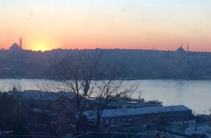 Across the Golden Horn at sunset.