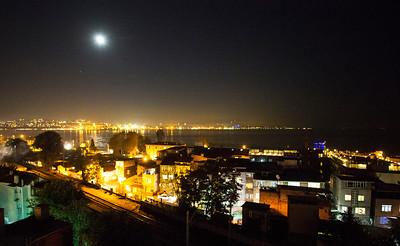 Moon over the Bosphorus
