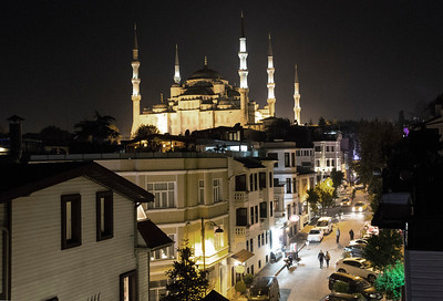 Blue Mosque from our hotel