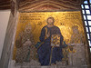 A mosaic of Christ with Emperor Constantine IX and Empress Zoe.  Haghia Sophia was the coronation church of the Byzantine emperors.
