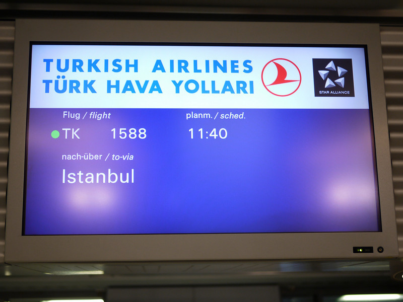 David and I had the best flight ever on Turkish air  from Frankfurt to Istanbul.